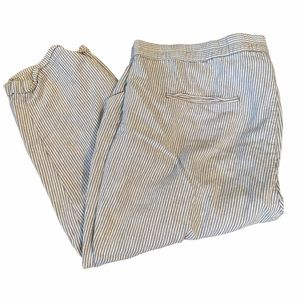 Old Navy Tapered Crop Striped Pants Size 20